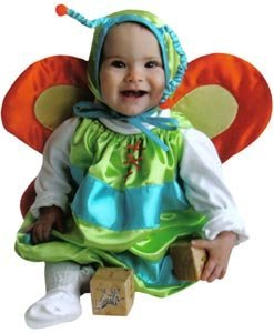 Butterfly Deluxe Baby Costume 6-12 Month Size