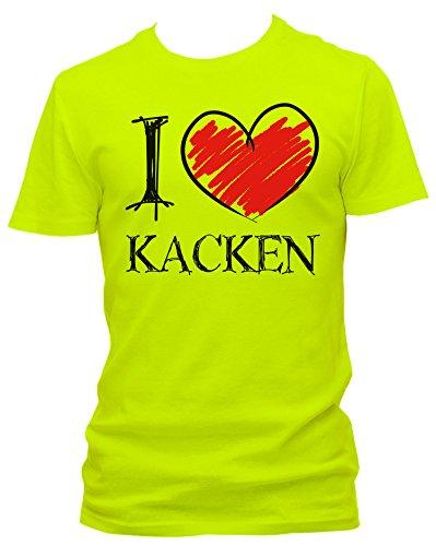 neon herren t shirt i love kacken fun neon gr e xxl farbe neon gelb. Black Bedroom Furniture Sets. Home Design Ideas