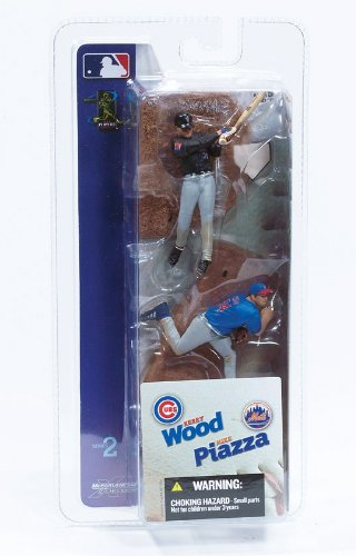 MIKE PIAZZA / NEW YORK METS & KERRY WOOD / CHICAGO CUBS * 3 INCH * McFarlane's MLB Sports Picks Series 2 Mini Figure 2-Pack
