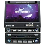 "In-Dash Fully Motorized 7"" LCD wide Screen Monitor with AM/FM/DVD Changer Controller ~ MA Audio"