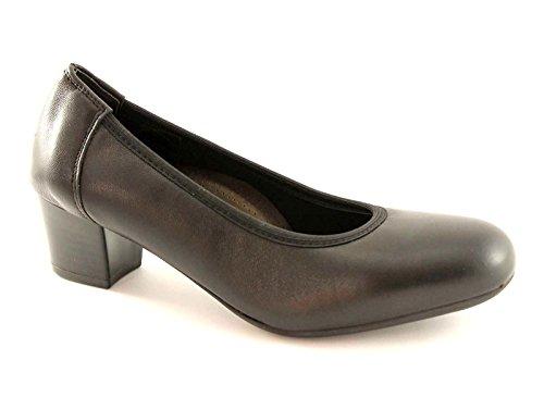 CINZIA SOFT IQ148 nero scarpe donna decolletè pelle 42