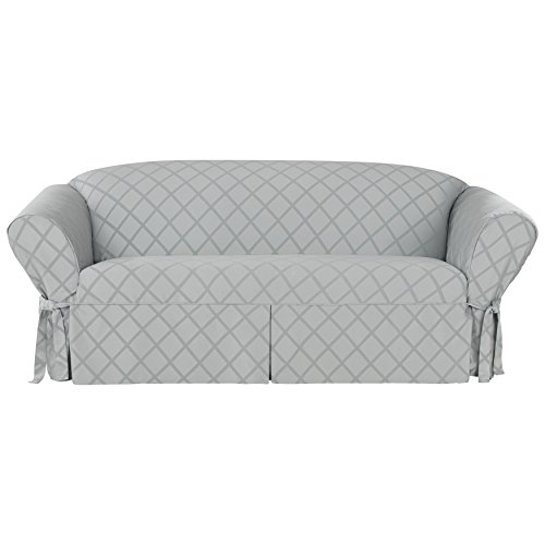 Sure fit 43264 durham sofa slipcover gray furniture sofas for Sure fit sectional sofa covers