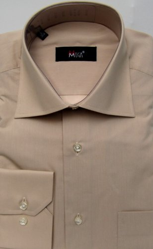 MUGA mens shirts for Casual and Formal, Beige, Size L