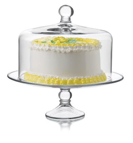 Libbey Selene Cake Dome 2-Piece Set, Clear (Glass Cake Stands compare prices)