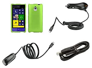 htc 8xt premium accessory kit neon green hard shell case shield cover atom led. Black Bedroom Furniture Sets. Home Design Ideas