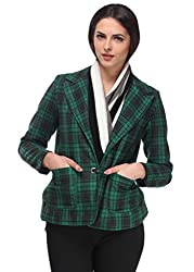 Green Chequered Overcoat