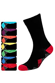 7 Pairs of Freshfeet™ Cotton Rich Diamond Print Socks