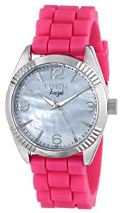 Invicta Women's 15878 Angel Blue Mother of Pearl Dial Pink Strap Watch