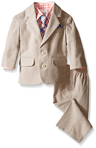 Nautica Baby Linen Texture Suit Set, Medium Pink, 18 Months
