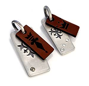 Amazon.com: Bico Kings & Queens Paired Pendants (BP12 Brown) - the