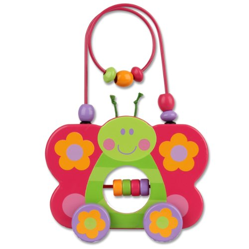 Stephen Joseph Butterfly Rolling Wire and Bead Toy