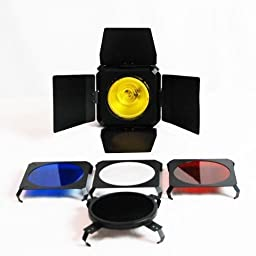 LimoStudio Flash Barn Door Honeycomb Grid 4 Pcs Gel Filter Black, AGG328-B