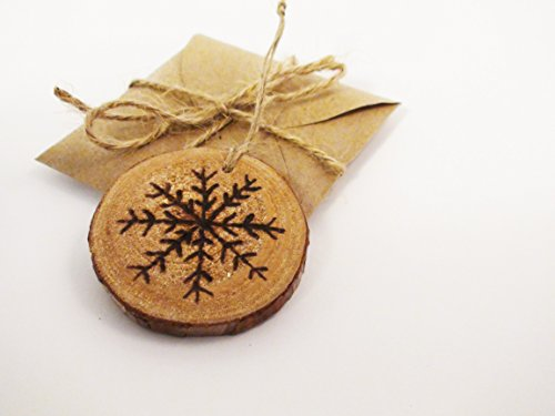 Wooden Wood Burned Christmas Ornament