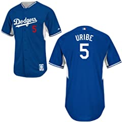 Juan Uribe Los Angeles Dodgers Royal Batting Practice Jersey by Majestic by Majestic