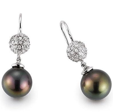 gooix 937-1032 Women's Stud Earrings Silver with White Zirconia and Muschelkernperle
