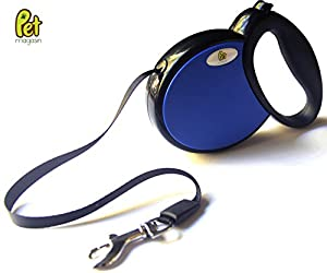 Retractable Dog Leash - Ergonomic Design with Smooth Leash Retraction - Leash Extends up to 16 Feet and Supports Medium & Large Dogs © Pet Magasin