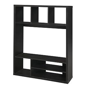 Kubico meuble tv marron noir alinea for Meuble tv marron