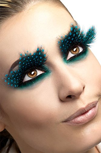 Fever Women's Eyelashes Large Feather with Dots Contains Glue In Display Box, Multi, One Size - 1