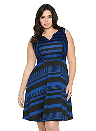 torrid plus size stripe skater dress clothing
