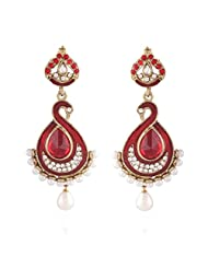 I Jewels Tradtional Gold Plated Elegantly Handcrafted Pair Of Fashion Earrings For Women. - B00N7IP6EM
