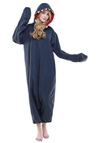 Newcosplay Unisex Adult Pyjamas Shark Halloween Onesie costume (XL) (Kigurumi Shark compare prices)