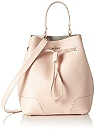 Furla Women\'s Stacy Small Drawstring Bucket Bag, Magnolia, One Size