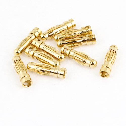 10 Pcs RC Model Li-Po Battery Male Banana Bullet Connector Plug 3mm