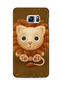 Amez designer printed 3d premium high quality back case cover for Samsung Galaxy S6 Edge Plus (cute lion brown animal)