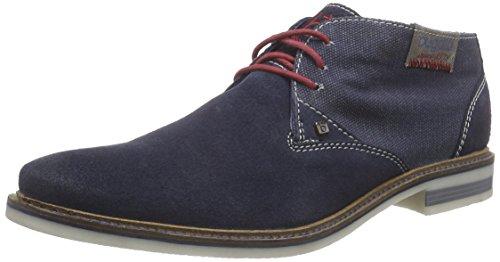 bugattiF7538PR36 - Stivali Desert a gamba corta, imbottitura leggera Uomo , Blu (Blu (dunkelBlu 425)), 41