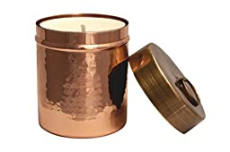 Hammered Copper Votive Candle