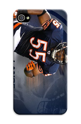 Chun Coolest Designed Snap On Hard Tpu Case Cover Chicago Bears Protector For Iphone4/4S