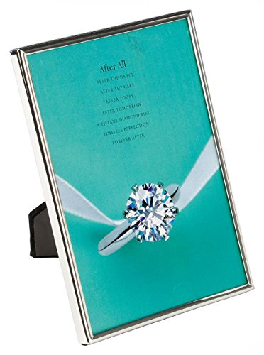 5 x 7 Polished Photo Frames for Tabletop or Wall Mount, Slim Profile, Slide-in Backer (Chrome) - Set of 6