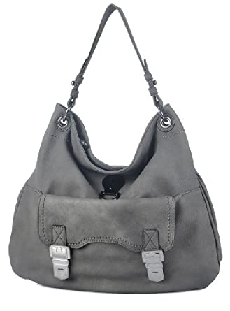 MDQ00403 Deyce 'Lucy' Quality PU Close-Out High Quality Women/Girl Fashion Designer Work School Office Lady Student Handbag Shoulder Bag Purse Totes Satchel Clutches Hobos (D. Grey)