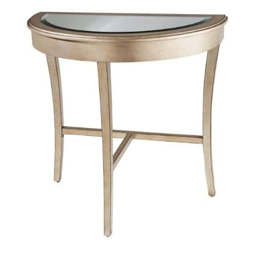 Amazon Com Hall Table Beveled Half Moon Tapered Legs