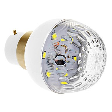B22 1.2W 6X2835Smd 100Lm 7000K Cool White Light Led Globe Bulb (Dc 12V)