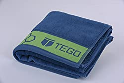TEGO Antimicrobial Sports Towel - Mykonos Blue - Green
