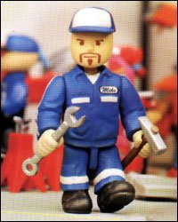Buy Low Price International Playthings MIGHTY WORLD Mike the Wrench Race Team Series 3″ Figure & Accessories (B000MP07X8)