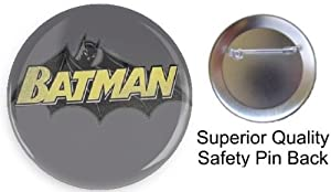 """BATMAN Pin on 1.5"""" High Quality Pin-back Button From Bravo-pin from Bravo-Pin"""