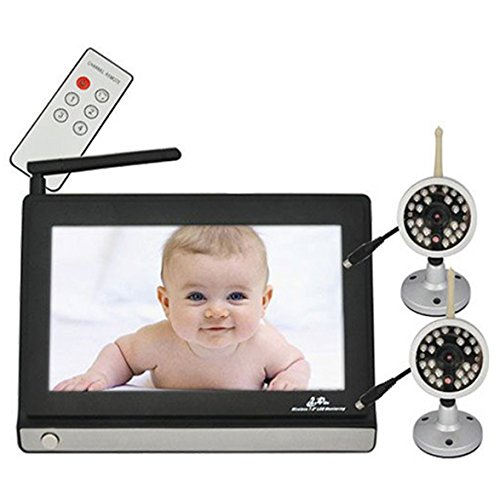 """Baby Monitor Wireless Video Baby Monitor With Two 2.4G Cctv Camera 7"""" Tft Lcd 4Ch Baby Care Safety Health Bbm 06"""
