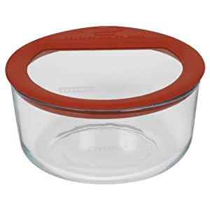 buy pyrex no leak glass storage container with lid 4 cup round online at low prices in india. Black Bedroom Furniture Sets. Home Design Ideas
