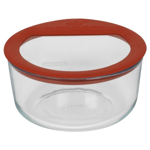 Pyrex Premium 4-Cup Round Glass Food Storage