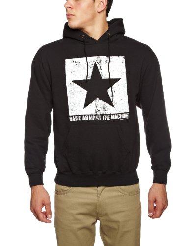 Rage Against The Machine Star Hoodie Mens T-Shirt Black Small