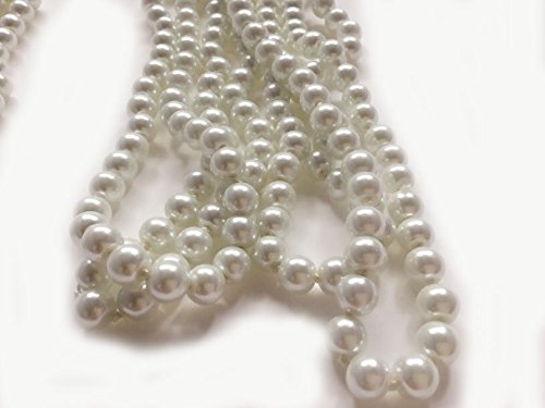 2pcs-BeautyMood-60-White-Pearl-Bead-Necklaces-Flapper-Beads-Party-Accessory-Beads-Accessory