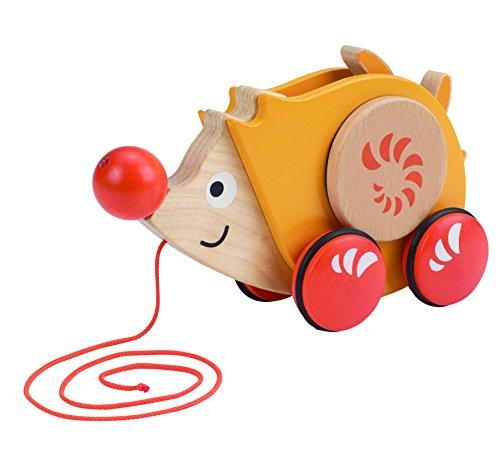 Juguete de madera Hape Early Explorer Walk-A-Long Hedgehog Pull Toy