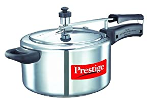Prestige Nakshatra 11563 Aluminum Pressure Cooker, 4-Liter from Mercantile International