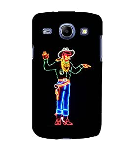 printtech LED Cowboy Man Back Case Cover for Samsung Galaxy A8 / Samsung Galaxy A8 A800F