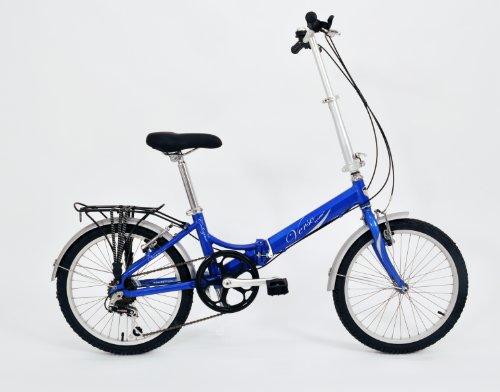 Verso Cologne 7-Speed Folding Bike (Cobalt Blue, 20-Inch)