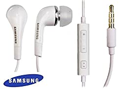 Samsung 3.5mm Stereo Headset with Remote and Mic - White for LG G FLEX PHONES