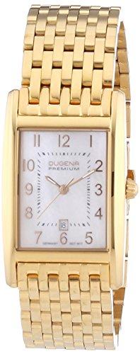 Dugena Premium  - Reloj de cuarzo para mujer, con correa de acero inoxidable, color dorado