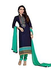 Vbuyz New Exclusive Blue Color Embroidered Salwar Suit